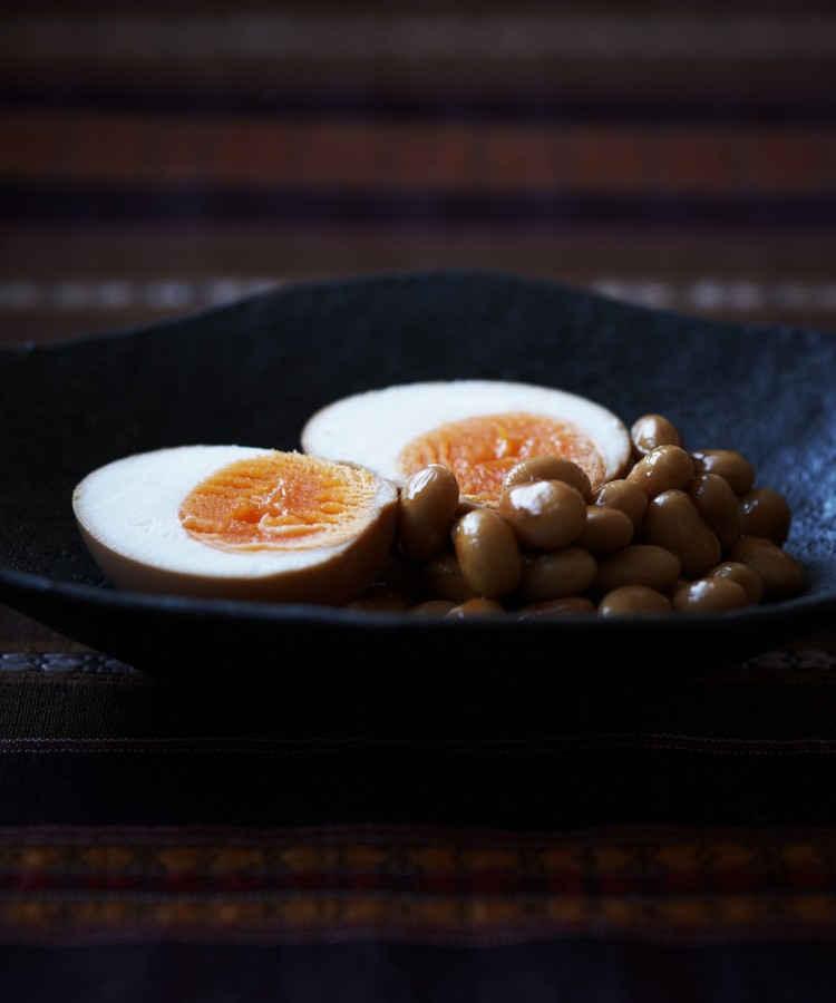 002r_Soy-marinated Boiled Eggs